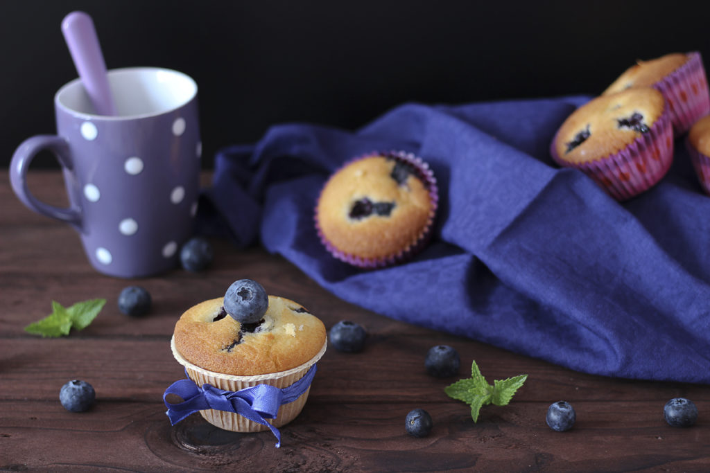 Muffin mirtilli senza glutine