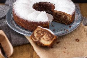ciambella senza glutine vaniglia e cacao